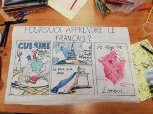 """Plakat : """"Pourquoi apprendre le français?"""""""